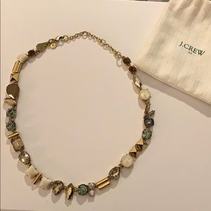J. Crew Multi-Stone and Gold Statement Necklace